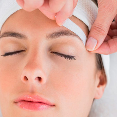 depilación facial con cera